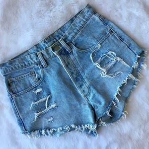Vintage 90s Ralph Lauren High Waisted Jean Shorts!